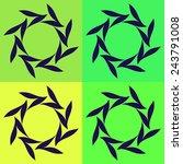 round vector ornament mandala.... | Shutterstock .eps vector #243791008