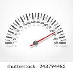 speedometer. abstract dashboard ... | Shutterstock .eps vector #243794482