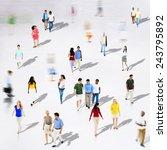 diverse diversity ethnic...   Shutterstock . vector #243795892