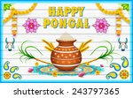 illustration of happy pongal... | Shutterstock .eps vector #243797365