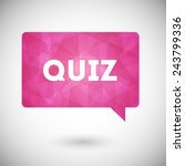 quiz vector icon | Shutterstock .eps vector #243799336
