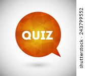quiz vector icon | Shutterstock .eps vector #243799552