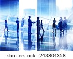 business people handshake... | Shutterstock . vector #243804358