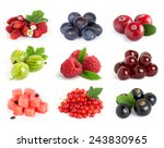 collection of sweet berries on... | Shutterstock . vector #243830965