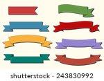 red ribbon banner set | Shutterstock .eps vector #243830992