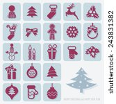 christmas icons set | Shutterstock . vector #243831382