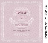 retro style wedding invitation... | Shutterstock .eps vector #243835852