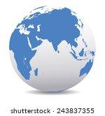 china  japan  malaysia ... | Shutterstock .eps vector #243837355