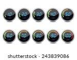 temperature gauge digital set | Shutterstock .eps vector #243839086
