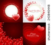 set of happy valentines day... | Shutterstock .eps vector #243840448