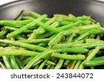 Green Beans On A Frying Pan