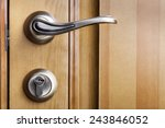 modern style door handle on... | Shutterstock . vector #243846052