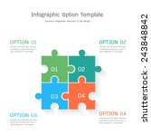 infographic option template in... | Shutterstock .eps vector #243848842