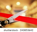 grand opening  cutting red... | Shutterstock . vector #243853642