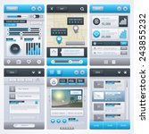 ui flat design elements. vector ...