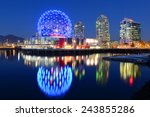 Stock photo vancouver at night vancouver british columbia canada 243855286