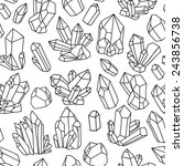 seamless vector pattern with... | Shutterstock .eps vector #243856738