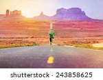 runner man athlete running... | Shutterstock . vector #243858625