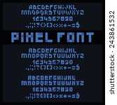 three simple pixel fonts. | Shutterstock .eps vector #243861532