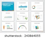 presentation slide templates... | Shutterstock .eps vector #243864055