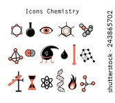 graphic set chemical objects on ... | Shutterstock .eps vector #243865702