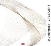 abstract bronze line brown wave ... | Shutterstock .eps vector #243872845