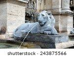Fountain. Sculpture Of A Lion ...