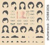 big vector set of dress up... | Shutterstock .eps vector #243881836