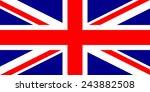 great britain flag | Shutterstock .eps vector #243882508