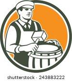 illustration of a cooper barrel ...   Shutterstock . vector #243883222