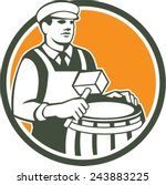 illustration of a cooper barrel ...   Shutterstock .eps vector #243883225
