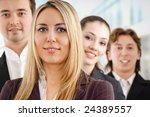 team of successful smiling... | Shutterstock . vector #24389557