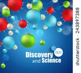 chemical science and discovery. ... | Shutterstock .eps vector #243897388