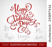 typography valentine's... | Shutterstock .eps vector #243897616