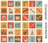 36 retro vector icons  media ... | Shutterstock .eps vector #243901912