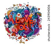 I Love You Hand Lettering And...
