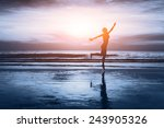 Healthy Life  Silhouette Of...