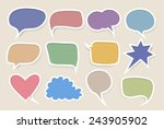set of colored speech bubbles | Shutterstock .eps vector #243905902