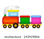 illustration of a colorful toy... | Shutterstock .eps vector #243929806