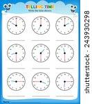 Telling Time Worksheet. Write...