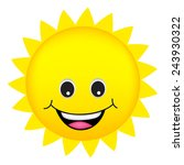 illustration of a cute cartoon... | Shutterstock .eps vector #243930322