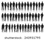 silhouettes of casual people in ... | Shutterstock .eps vector #243931795