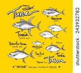 hand drawn fish   vector... | Shutterstock .eps vector #243932782