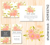 wedding invitation cards with... | Shutterstock .eps vector #243933742