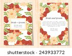wedding invitation cards with... | Shutterstock .eps vector #243933772