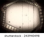 old movie black and white empty ... | Shutterstock . vector #243940498