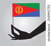 eritrea flag in a female hand....