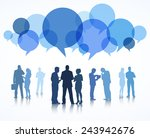 vector of business people with... | Shutterstock .eps vector #243942676