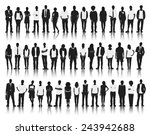 silhouette group of people... | Shutterstock .eps vector #243942688