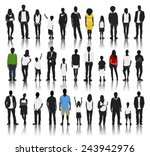 silhouettes of casual people in ... | Shutterstock .eps vector #243942976